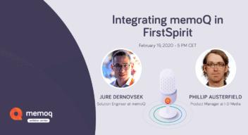 memoQ-FirstSpirit webinar